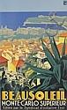 ROGER BRODERS (1883-1953). BEAUSOLEIL. Circa 1928. 39x24 inches, 100x61 cm. Lucien Serre, Paris.