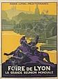 ROGER BRODERS (1883-1953). FOIRE DE LYON. Circa 1920. 41x30 inches, 106x77 cm. Cornille & Serre, Paris.