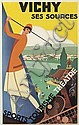 ROGER BRODERS (1883-1953). VICHY. 1928. 39x24 inches, 100x62 cm. Lucien Serre, Paris.