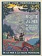 ROGER BRODERS (1883-1953). LA ROUTE DES ALPES. Circa 1920. 42x30 inches, 107x78 cm. Cornille & Serre, Paris.