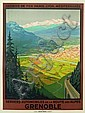 ROGER BRODERS (1883-1953). GRENOBLE. Circa 1922. 42x31 inches, 106x78 cm. Daude Freres, Paris.