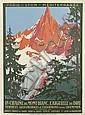 ROGER BRODERS (1883-1953). LA CHAINE DU MONT - BLANC. L'AIGUILLE DU DRU. 1924. 42x30 inches, 106x78 cm. Cornille & Serre, Paris.