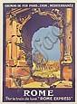 ROGER BRODERS (1883-1953). ROME. 1921. 42x30 inches, 107x78 cm. Cornille & Serre, Paris.