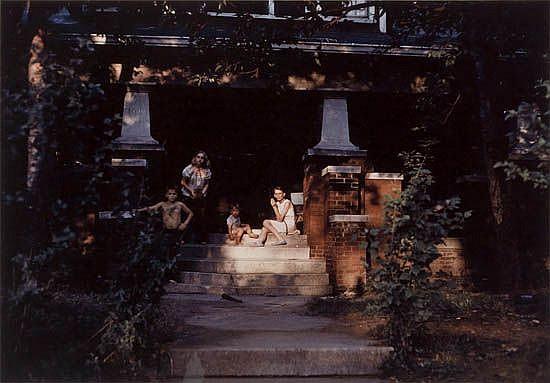EGGLESTON, WILLIAM (1939- ) Untitled (family on porch).