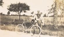 (BICYCLING GRAND TOUR) Album containing 175 photographs shot and sequenced by an enterprising Scottish cyclist-cum-photographer, who tr