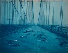 (CYANOTYPES) eugene de salignac (1861-1943) Group of approximately 40 photographs by de Salignac depicting construction of the Manhatta
