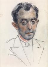 DAVID BURLIUK Portrait of Moses Soyer.