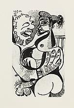 (PICASSO, PABLO.) Marcenac, Jean. Le Goût de Bonheur: A Suite of Happy, Playful and Erotic Drawings.
