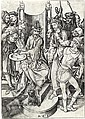 MARTIN SCHONGAUER Christ before Pilate.