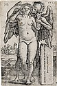 HANS SEBALD BEHAM Death and the Standing Nude Woman.
