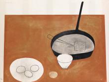 WILLIAM SCOTT Still Life with Frying Pan.
