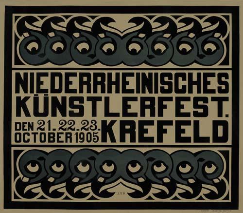 NIEDERRHEINISCHES KUNSTERLFEST / KREFELD. 1905.