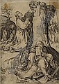 MARTIN SCHONGAUER Christ on the Mount of Olives.