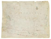 (DUTCH EAST INDIA COMPANY--JAVA SEA.) Graaf, Isaak de. A fine manuscript map of Java, the Java Sea, Bali,