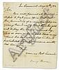 HARRISON, BENJAMIN. Letter Signed,