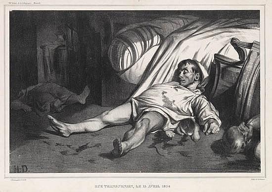 HONORÉ DAUMIER Rue Transnonain, le 15 Avril 1834.