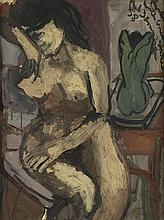 BOB THOMPSON (1937 - 1966) Nude with Green Statue.