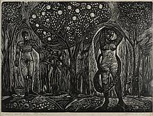 JAMES LESSESNE WELLS (1902-1993) Adam and Eve.
