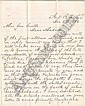(CUSTER, GEORGE ARMSTRONG.) Letter Signed by Thomas J. Mitchell, the Indian agent at Fort Peck, to Elizabeth B. Custer, regarding the recovery of the