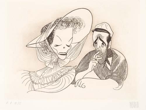 The African Queen: Katharine Hepburn and Humphrey Bogart.