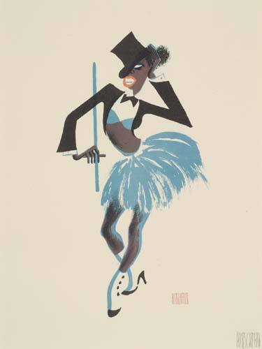 24 SIGNED LITHOGRAPHS Harlem As Seen By Hirschfeld.