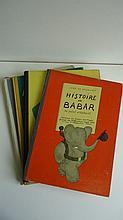 (CHILDREN'S LITERATURE.) De Brunhoff, Jean. Group of 4 Babar books.