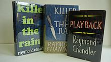 CHANDLER, RAYMOND. Group of 3 First Editions.