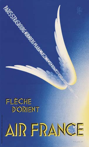 [AIR FRANCE]. Group of 6 small-format posters. Circa 1938.