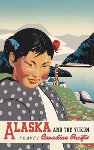 ALASKA AND THE YUKON / CANADIAN PACIFIC.  1936.