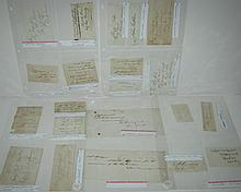 (CIVIL WAR.) Group of 18 clipped Signatures, by Union Generals, most including rank.