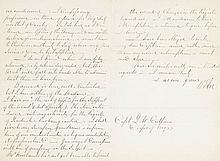 LEE, ROBERT E. Autograph Letter Signed,