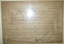 MORRIS, ROBERT. Partly-printed Document Signed,