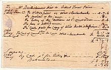 PAINE, ROBERT TREAT. Autograph Document Signed, in third person within the text,