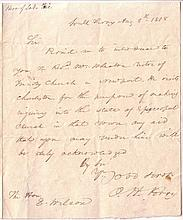 PERRY, OLIVER H. Autograph Letter Signed,