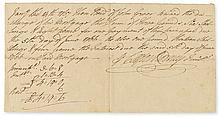 RODNEY, CAESAR. Autograph Document Signed,