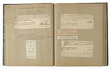 (ALBUM.) Large autograph album containing approximately 150 autograph items by royalty, politicians, soldiers, writers, architects, sci