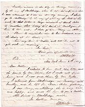 (BUSINESS.) FIELD, CYRUS W. Two items: Autograph Letter Signed,
