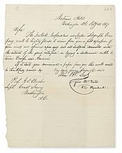 (BUSINESS.) FIELD, CYRUS W. Letter Signed,