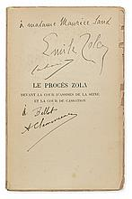 (DREYFUS AFFAIR.) Le Procès Zola [The Trial of Zola], ed. Stock, Signed and Inscribed by Émile Zola to George Sand's daughter-in-law M