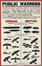 DESIGNER UNKNOWN. PUBLIC WARNING. 1915. 34x22 inches, 86x57 cm. Sir Joseph Causton & Sons, Limited, [London.]