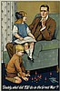 SAVILE LUMLEY (1876-1960). DADDY, WHAT DID YOU DO IN THE GREAT WAR? 1915. 29x19 inches, 73x49 cm. Johnson, Riddle & Co., Ltd., London.