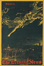 DESIGNER UNKNOWN. PEACE / THE EVENING NEWS. 1919. 29x19 inches, 74x50 cm. B.D. & S. Ltd, London.