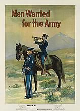 MICHAEL P. WHELAN (DATES UNKNOWN). MEN WANTED FOR THE ARMY. Circa 1910. 39x28 inches, 100x72 cm.