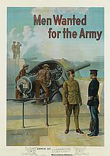 MICHAEL P. WHELAN (DATES UNKNOWN). MEN WANTED FOR THE ARMY. Circa 1910. 39x28 inches, 101x72 cm.