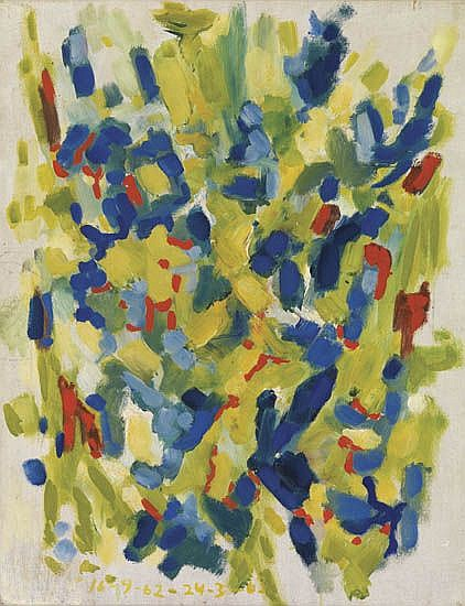 CLIFFORD JACKSON (1927 -   ) Untitled (Abstract Composition).