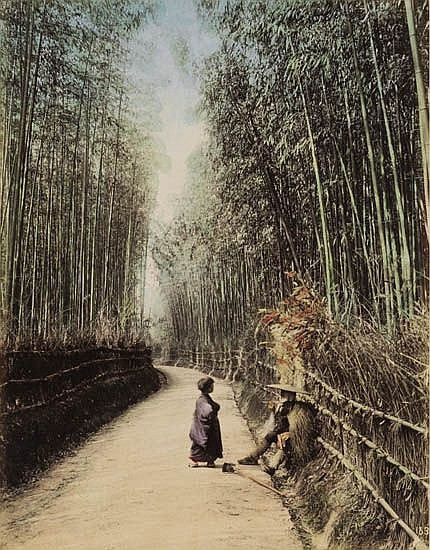 (JAPAN) kimbei, kozaburo, farsari Lavish album containing 100 beautifully hand-colored photographs of Japan,