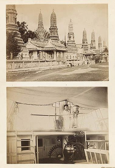 (ASIA) A compelling and unusual album containing 36 photographs from various locations, including