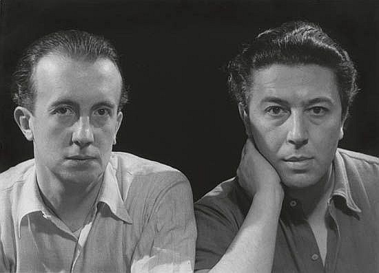 MAN RAY (1890-1976) Paul Eluard and André Breton.