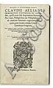 AELIANUS, CLAUDIUS. Opera quae extant.  1556