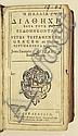 BIBLE IN GREEK.  He palaia diatheche [sic]. 1665 + Tes kaines diathekes. 1665 + Biblos tes demosias eukhes.  1665